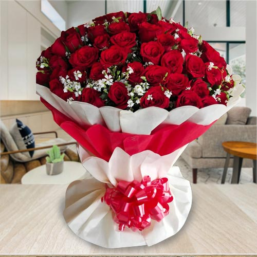 Marvellous Bouquet of 100 Red Roses