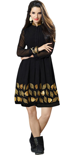 Polished Vivacity Georgette Kurti
