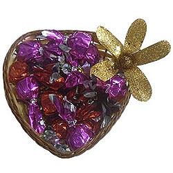 Assorted Handmade Chocolates in a Heart Shaped Box