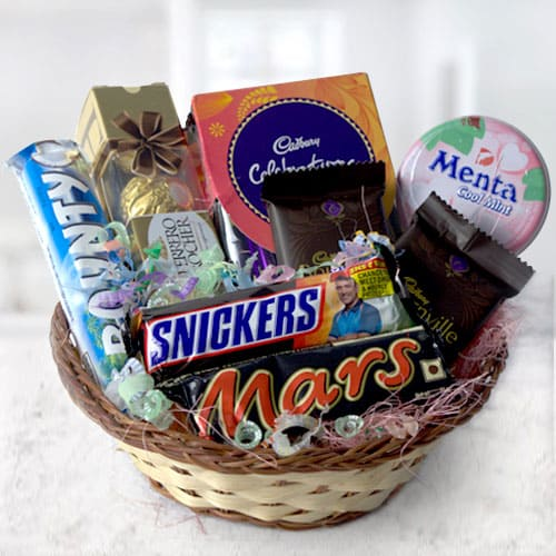 Delectable Assorted Chocolates Basket