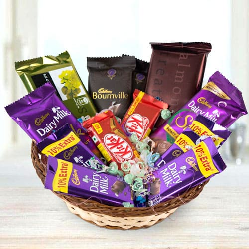 Irresistible Chocolates Basket