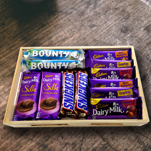 Tempting Chocolates Hamper for Birthday