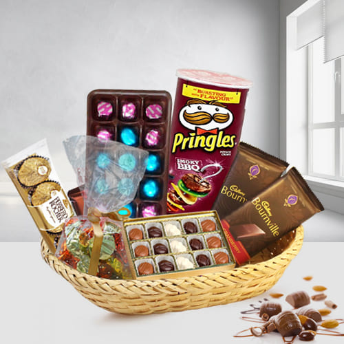 Unique Mixed Chocolates Gift Basket
