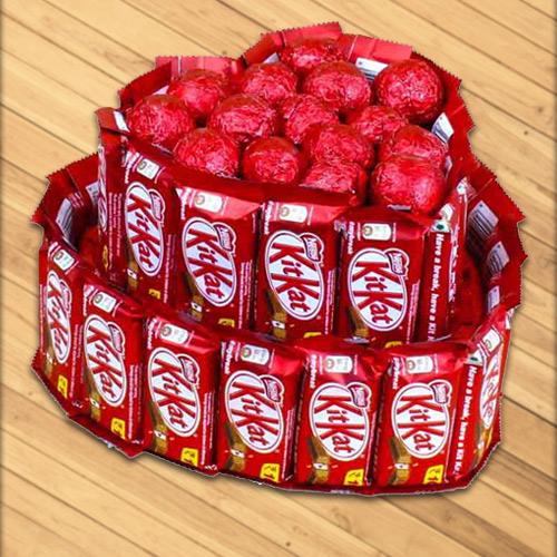 Exclusive Heart Shaped Arrangement of Chocolates
