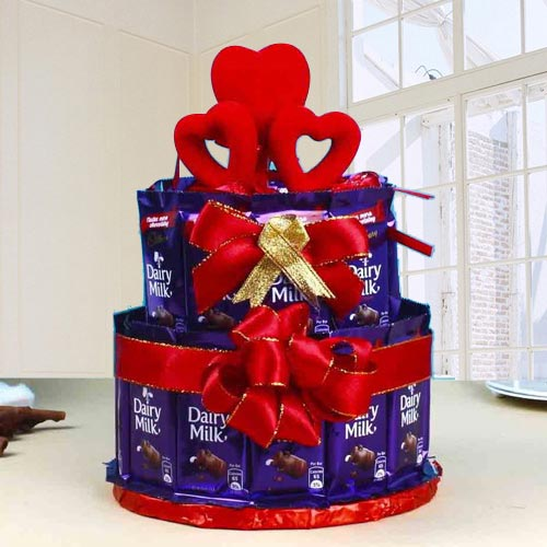 Mouth-Watering 2 Tier Arrangement of Chocolates