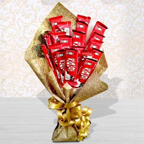 Remarkable Bouquet of Kitkat Chocolates