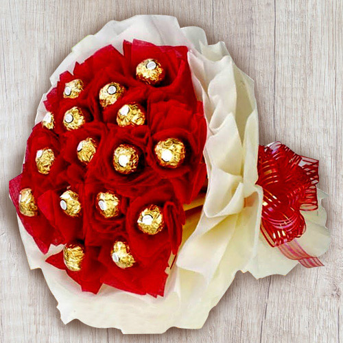 Wonderful 16 pcs Ferrero Rocher Chocolate Bouquet