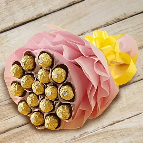Marvelous Bouquet of Ferrero Rocher Chocolates