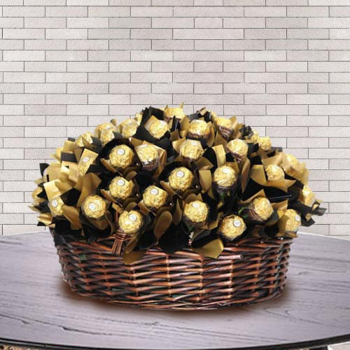 Wonderful Basket of Ferrero Rocher Chocolate