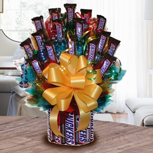 Remarkable Tower Arrangement of Snickers