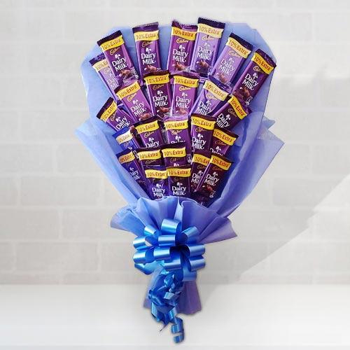 Delicious Bouquet of Cadbury Dairy Milk Chocolates