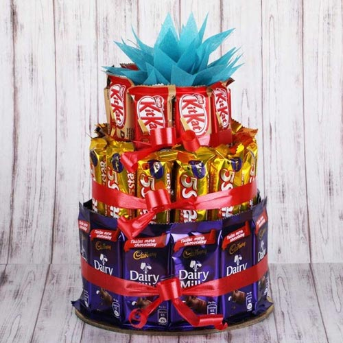 Marvellous 3 tier Arrangement of Assorted Chocolates