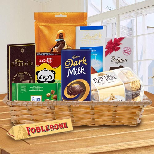 Enticing Chocolate Gift Basket