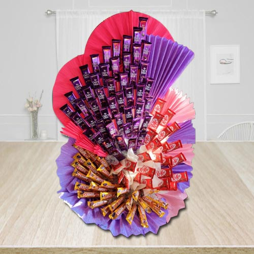 Wonderful Assorted Chocolates Arrangement