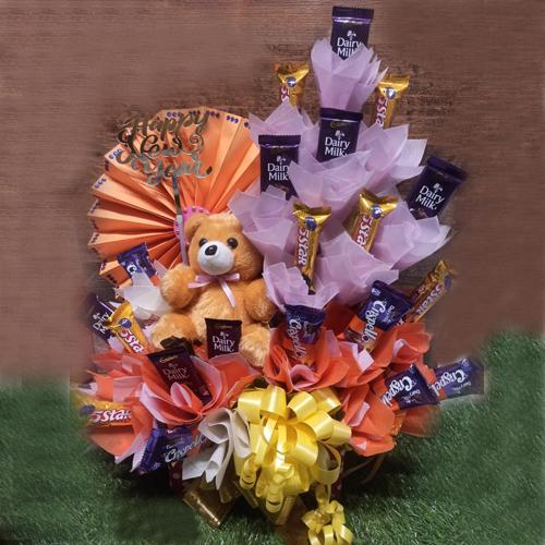 Fabulous Arrangement of Assorted Cadbury Chocolates for New Year