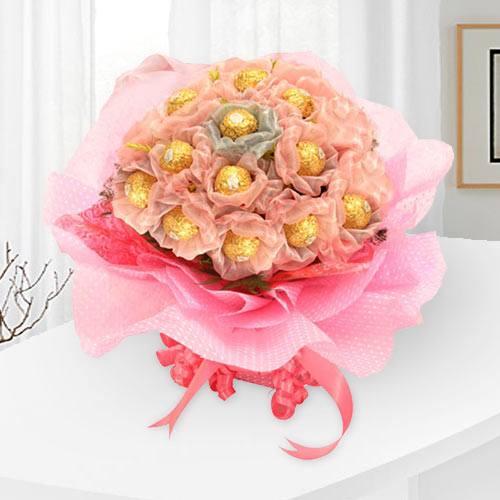 Gift of Ferrero Rocher Chocolates Bouquet