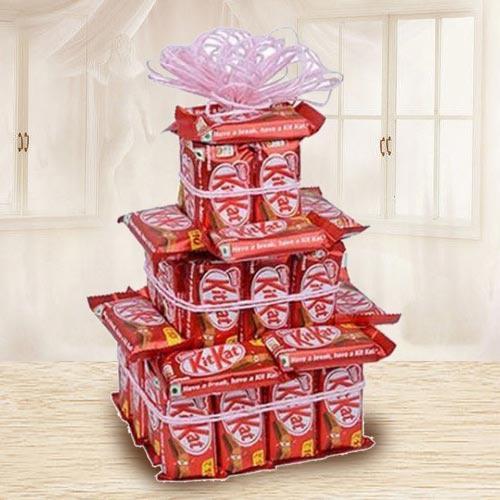 Marvelous 3 Tier Arrangement of Nestle Kitkat