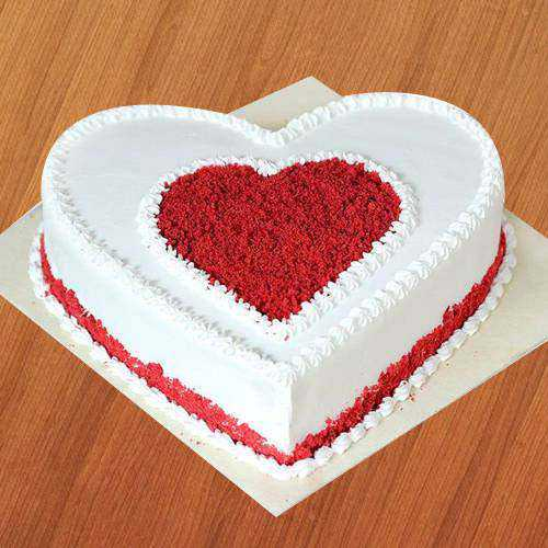 Delicious Heart Shaped Love Cake