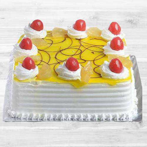 Fresh-Baked Eggless Pineapple Cake