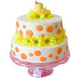 Luxurious Two-Tier Wedding Cake