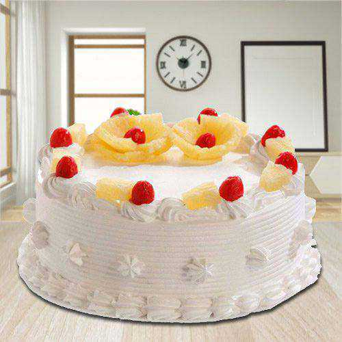 Amazing 2.2 Lbs Eggless Pineapple Cake from 3/4 Star Bakery