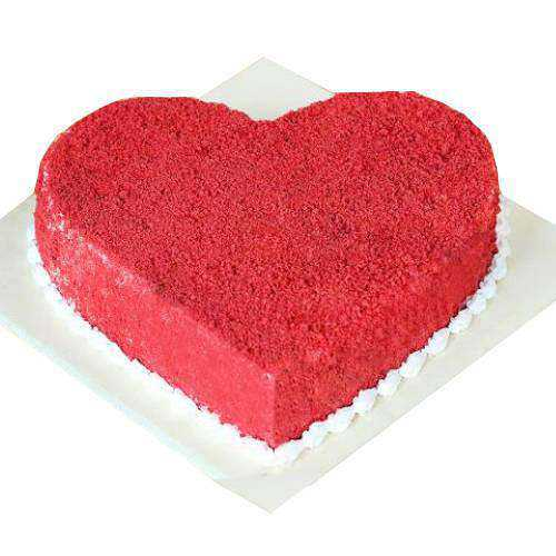 Luscious Heart-Shaped Red Velvet Cake