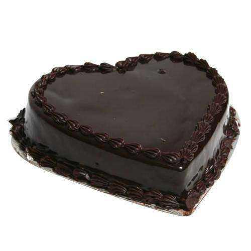 Zesty Chocolate Truffle Cake in Heart Shape