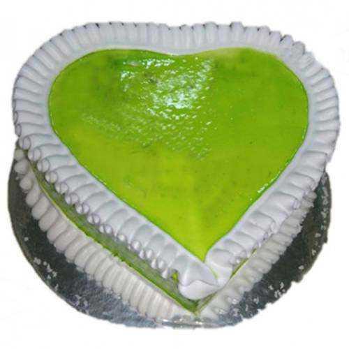 Enticing Heart-Shaped Kiwi Cake