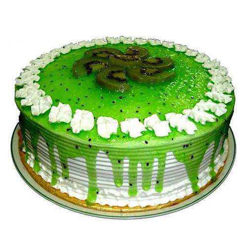 Amazing Eggless Kiwi Cake