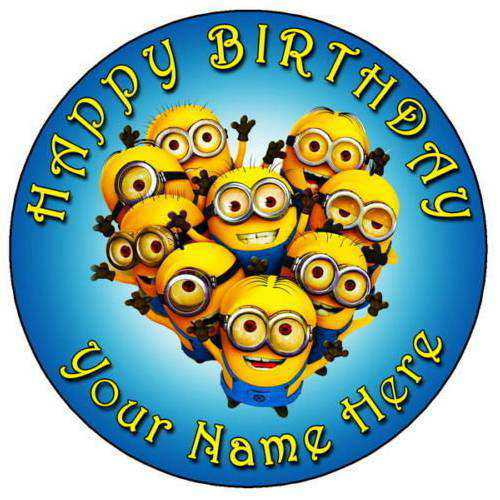 Happy Birthday Minions Cake for Kids