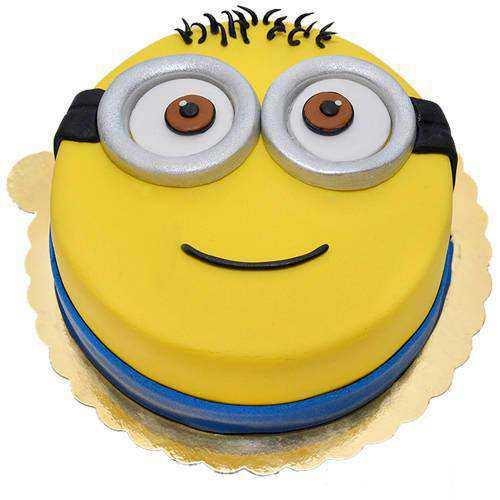 Cute Minions Fondent Cake
