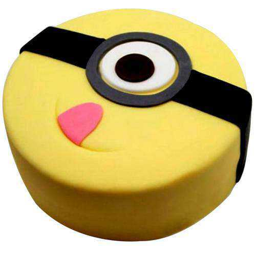 Delectable Minions Fondent Cake for Kids