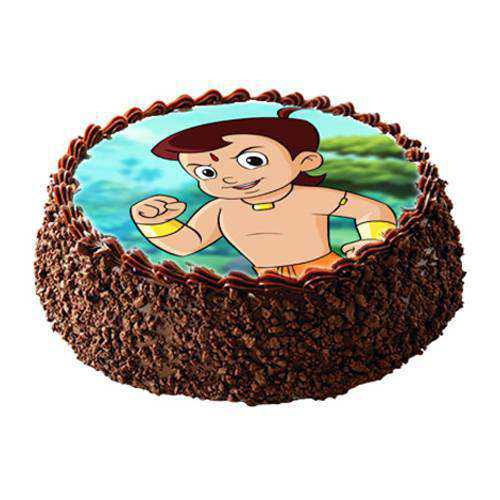 Delectable Chota Bheem Photo Cake for Kids