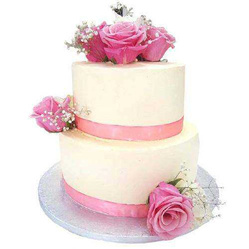Elegant 2 Tier Wedding Cake