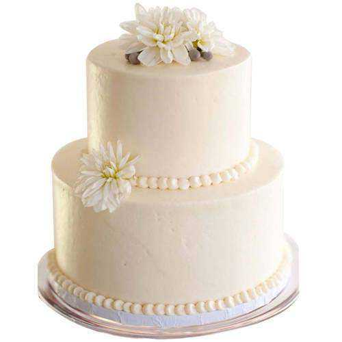 Simply Classic Two Tier Wedding Cake