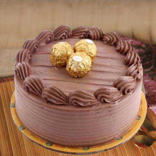 Yummy Ferrero Rocher Choco Cake
