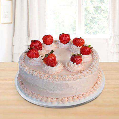 Enticing Strawberry Cake for Birthday