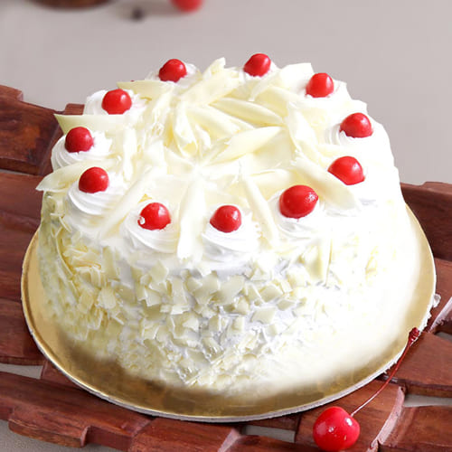Enticing White Forest Cake