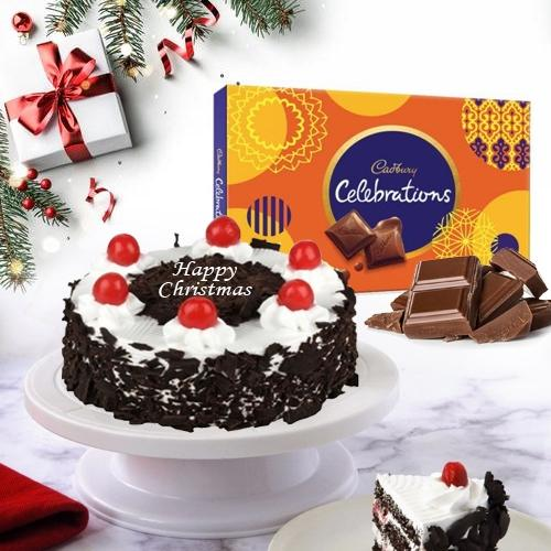 Special Merry_Xmas Combo of Black Forest Cake N Chocolates