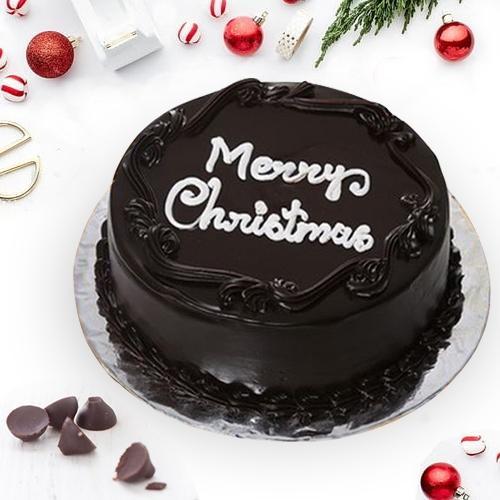 Classic Treat of Chocolate-Coated Cake for X-Mas