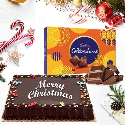 Zesty Chocolate Cake with Assorted Cadbury Chocolates