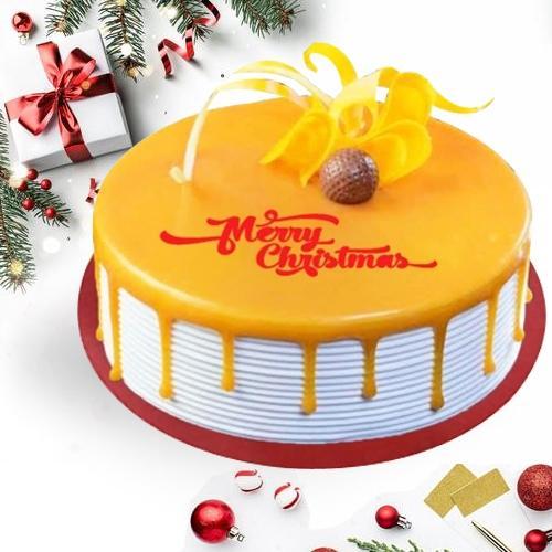 Appetizing Xmas Celebratory Butterscotch Cake
