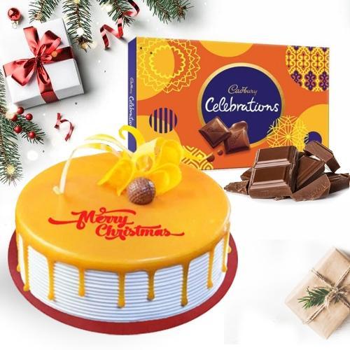 Lip-Smacking Butterscotch Cake N Cadbury Celebrations Pack