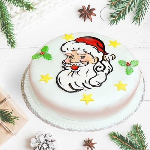 Surprising #XMas Special Vanilla Cake
