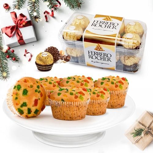 Blissful Ferrero Rocher Chocolates with Tutty Fruity Muffins