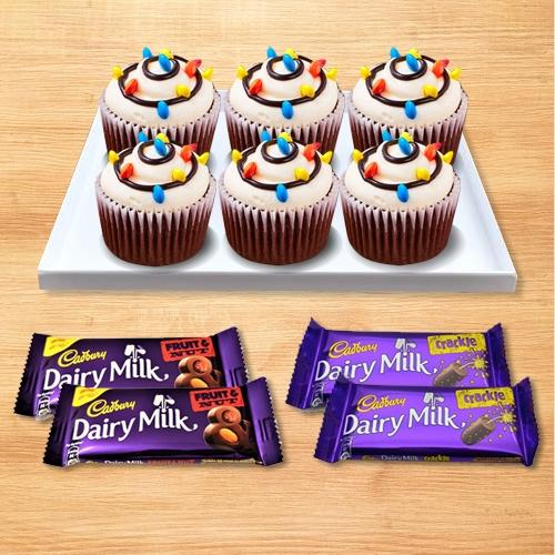 Marvelous Selection of Cup Cakes N Cadbury Chocolates