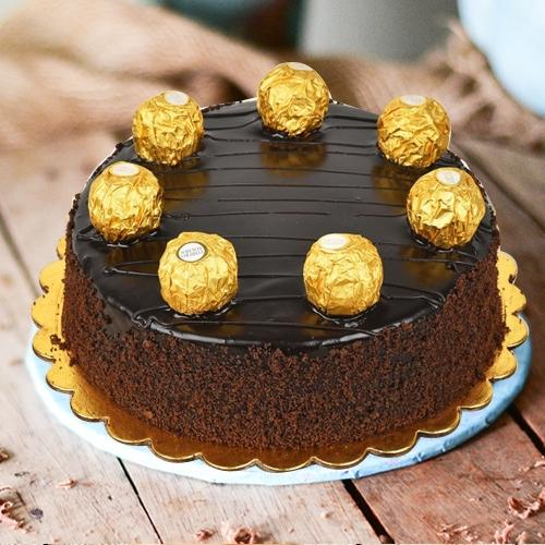 Chocolate-Flavored Ferrero Rocher Cake
