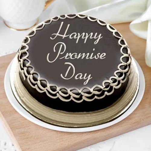 Fresh-Baked Dark Chocolate Cake for Promise Day