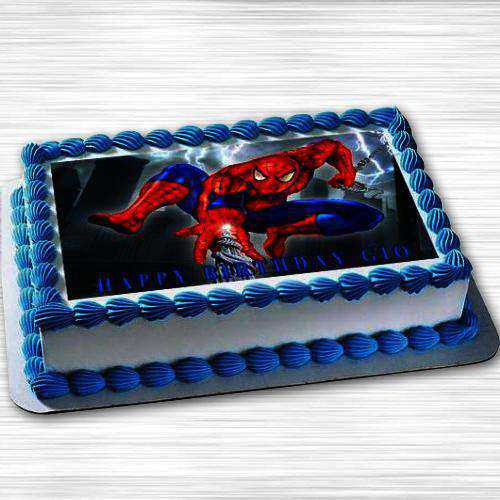 Enticing Spiderman Photo Cake