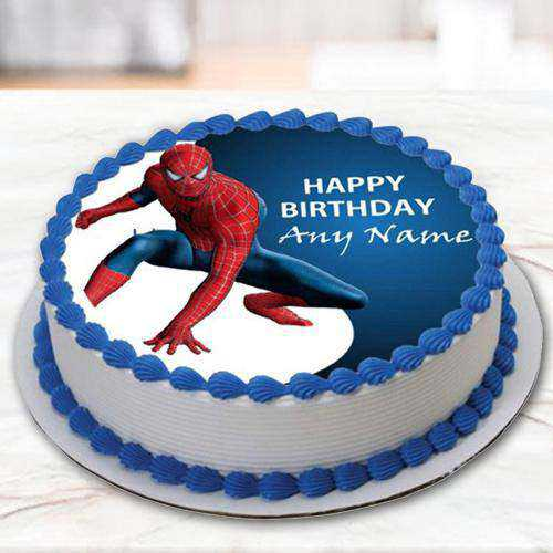 Scrumptious Spiderman Photo Cake